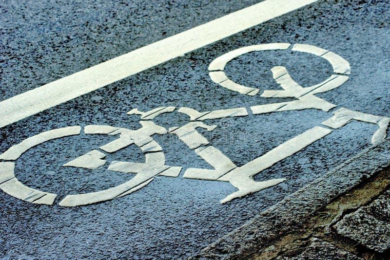 Bike lane stock photography