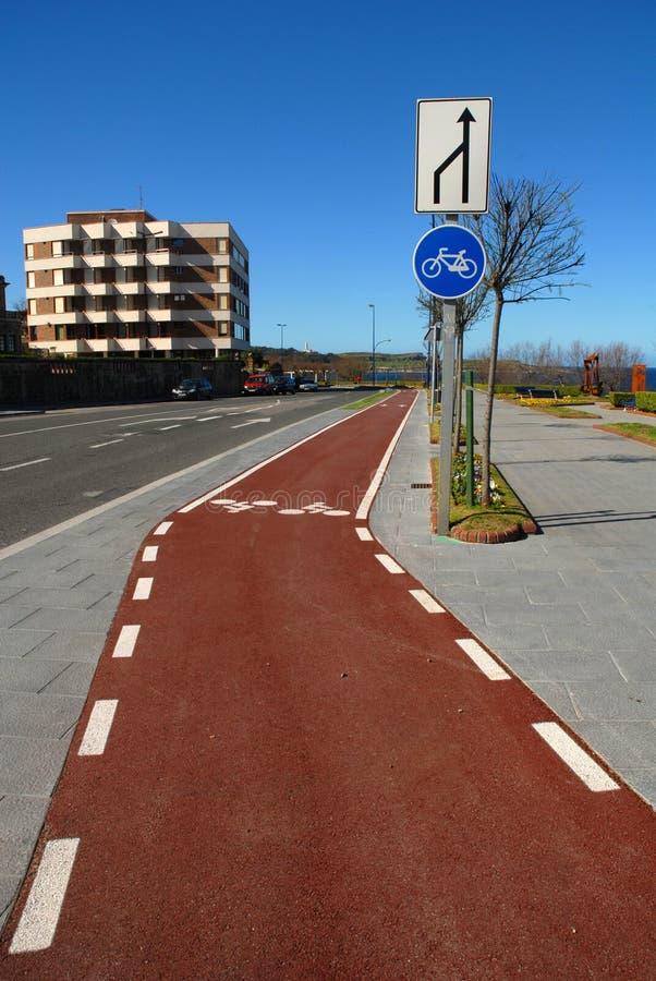 Download Bike lane without traffic stock image. Image of round - 26100419