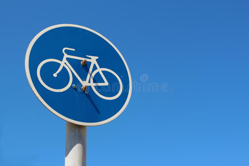 Bike route traffic sign stock images