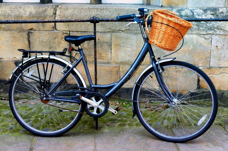 Bike Leaning Against Railing Royalty Free Stock Image