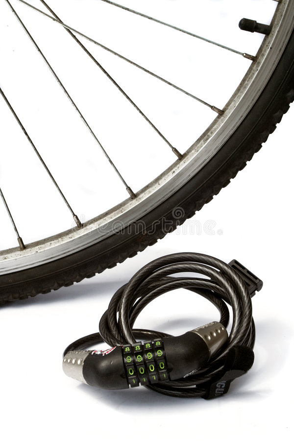 Bike lock royalty free stock image