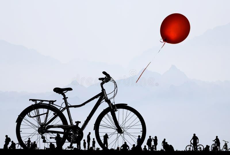 Bike dreams vector illustration