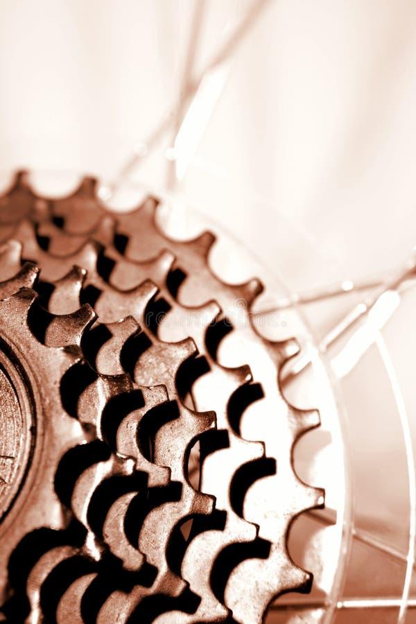 Bike los engranajes foto de archivo