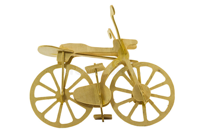 Bike models made of wood royalty free stock photography