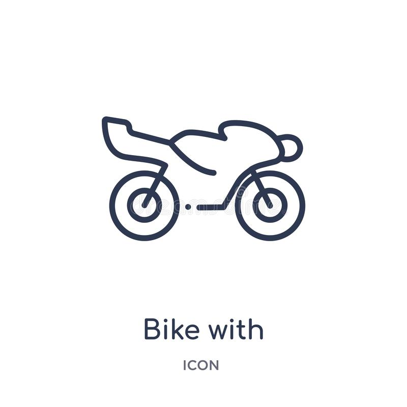 Bike with motor, ios 7 interface icon from transport outline collection. Thin line bike with motor, ios 7 interface icon isolated. On white background vector illustration