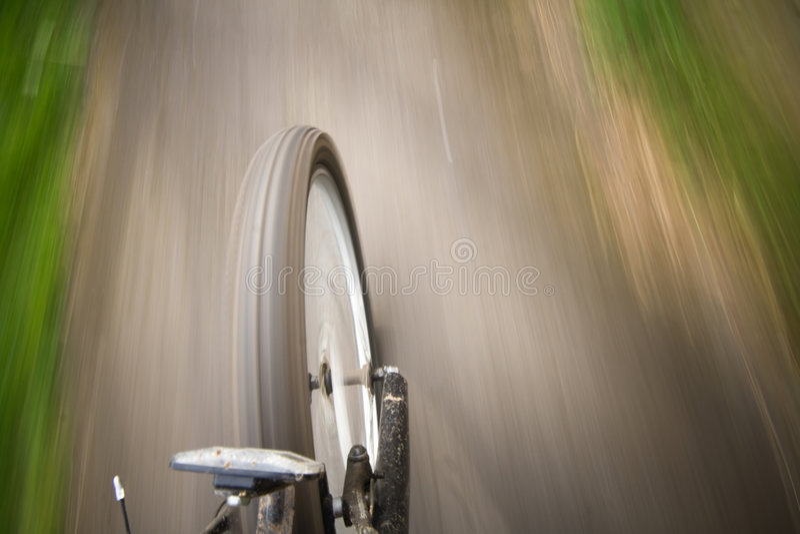 Bike moving royalty free stock photos