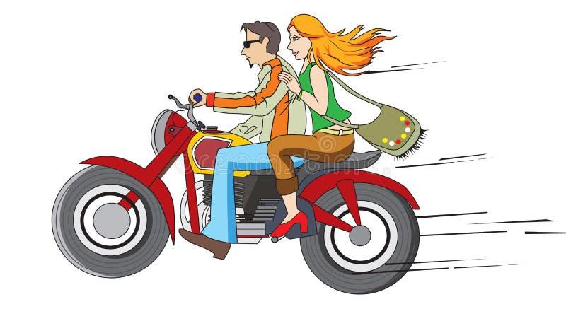 Bike o passeio, ilustração ilustração stock