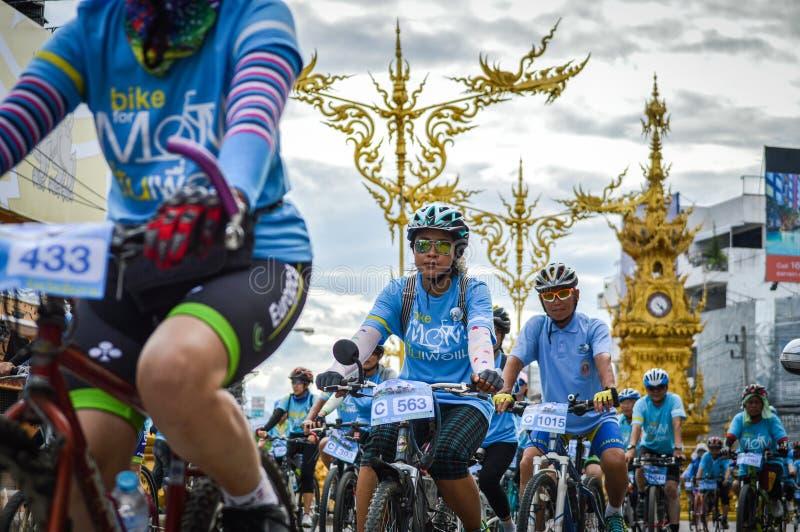 Bike para a atividade da mamã em Chiang Rai, Tailândia imagem de stock royalty free