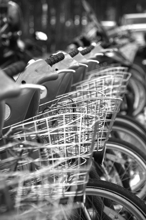 Download Bike in Paris stock photo. Image of parked, grey, citibike - 13210816