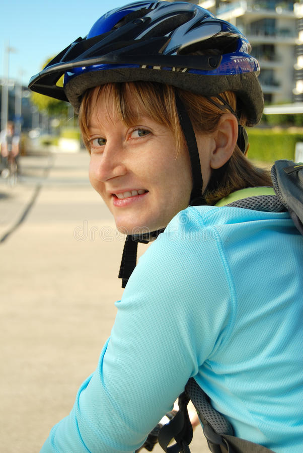 Bike path cycling royalty free stock photos