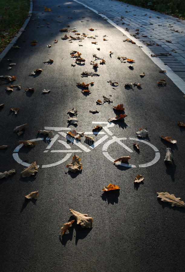 Bike on the pavement royalty free stock image