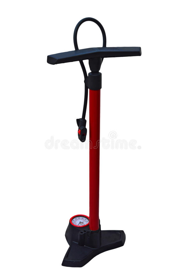Bike Pump Isolated With PNG File Attached stock images