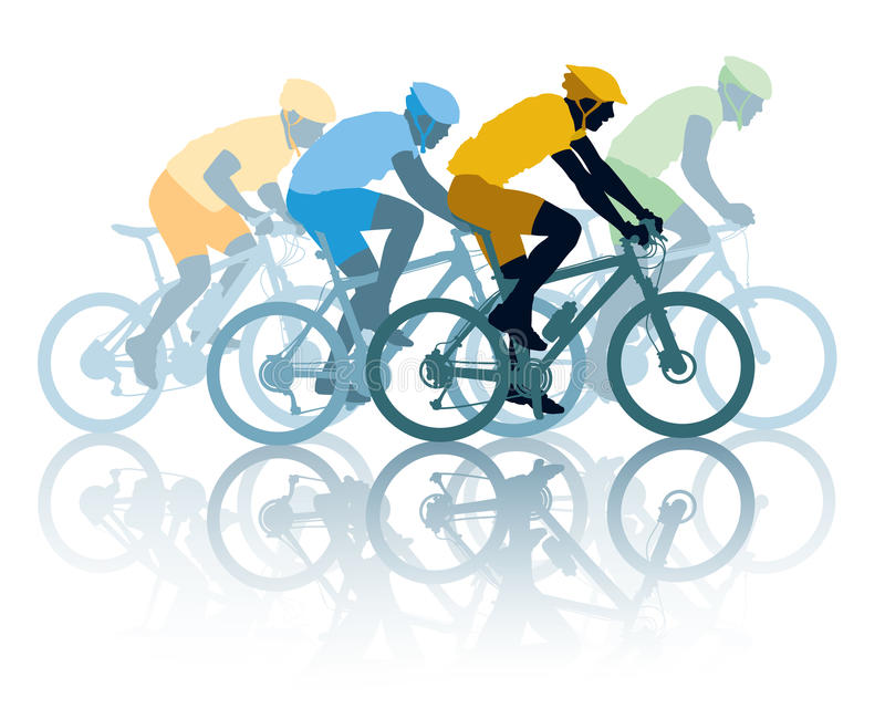 Download Bike race stock vector. Image of modern, outdoors, professional - 26860603