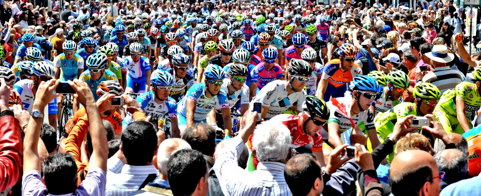BIKE RACE. Cycling is the sport where bicycle is used. It is controlled by the International Cycling Union UCI. Within the classic sports cycling there are royalty free stock images