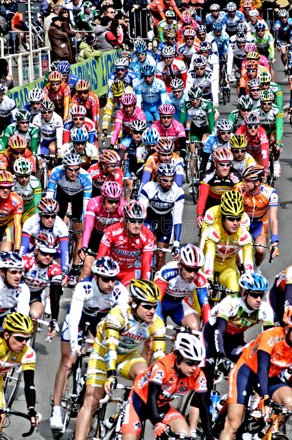 BIKE RACE. Cycling is the sport where bicycle is used. It is controlled by the International Cycling Union UCI. Within the classic sports cycling there are stock photography