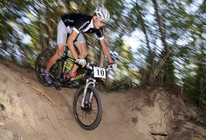 Bike racer stock image