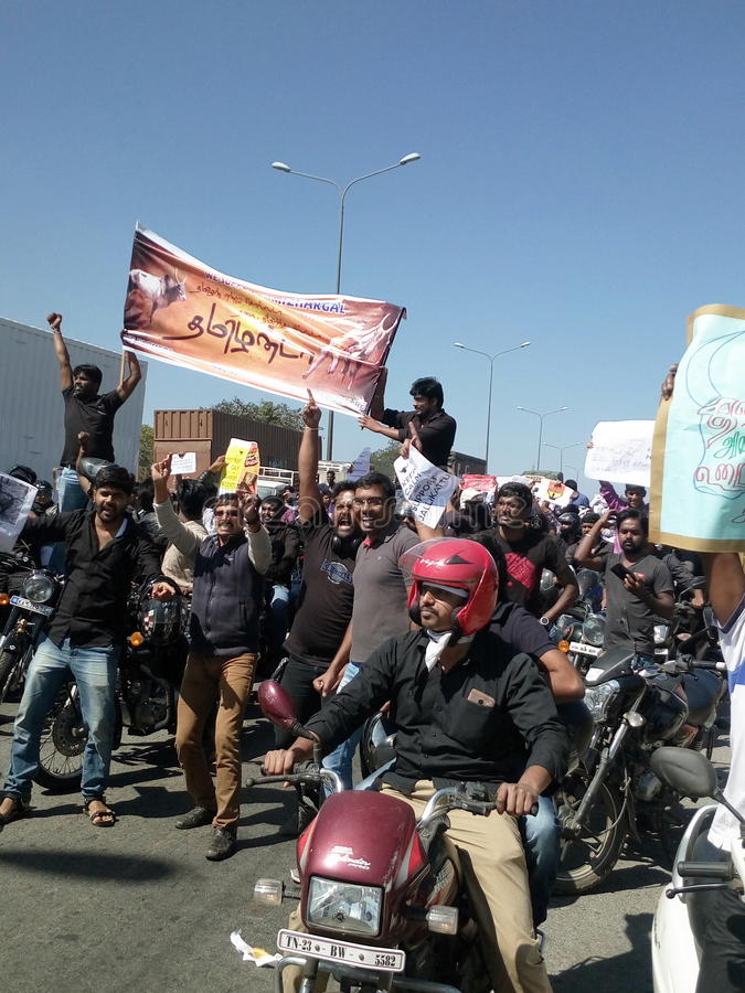 Bike rally. Conducted in hosur for jalli kattu royalty free stock photography