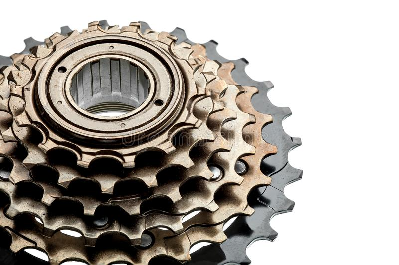 Bike rear cassette bicycle spare parts. royalty free stock image