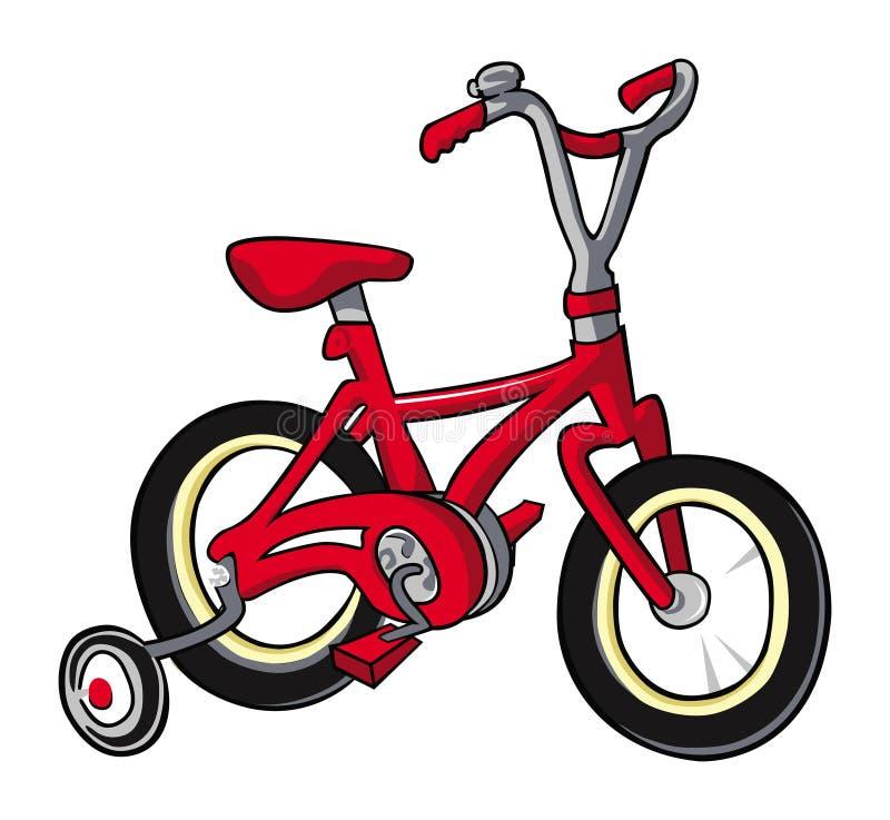 Bike red. Cartoon illustration of a red bike