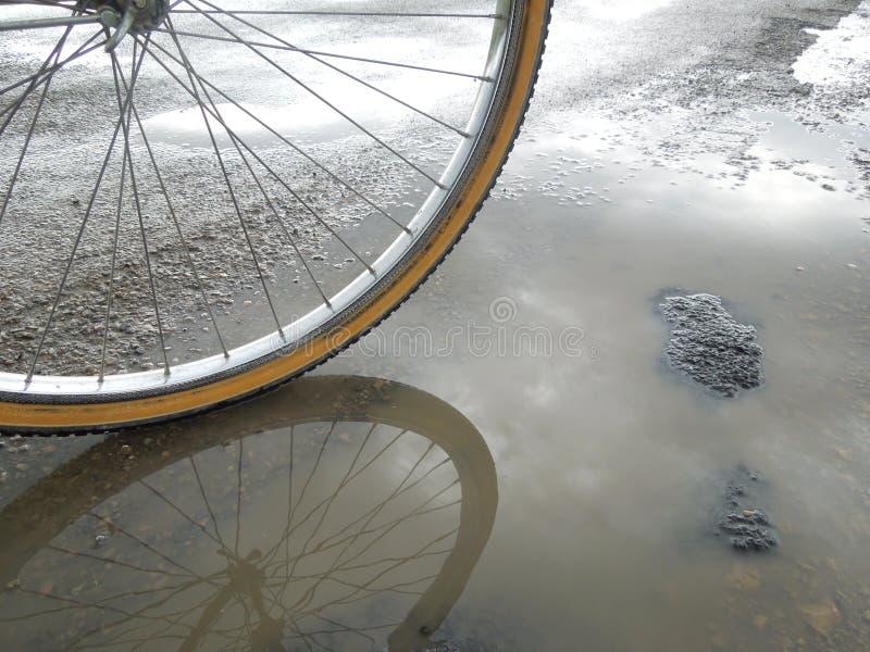 Bike reflection royalty free stock photo