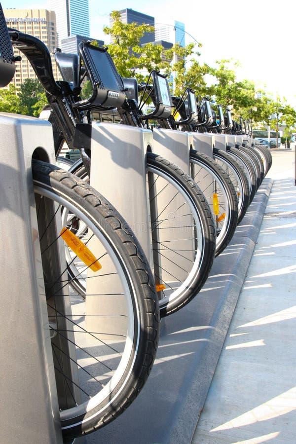 Bike rental in Toronto during summer royalty free stock photo