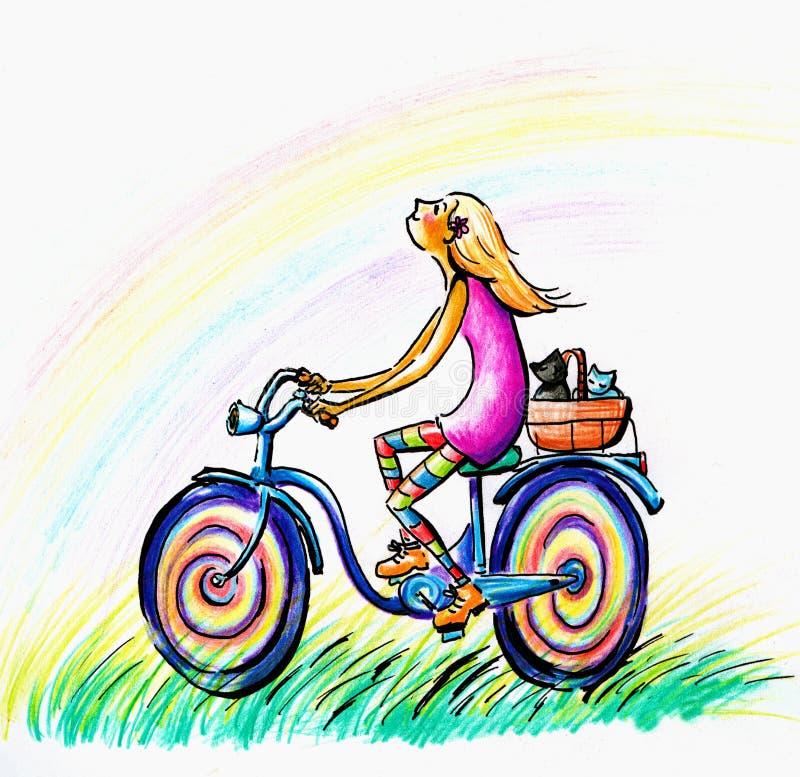 Bike ride royalty free stock photography