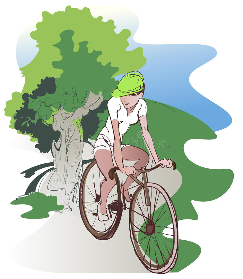 Bike ride royalty free illustration