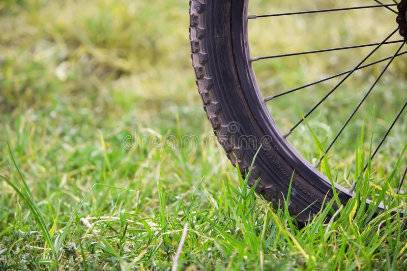 Bike ride on the mountain royalty free stock photography
