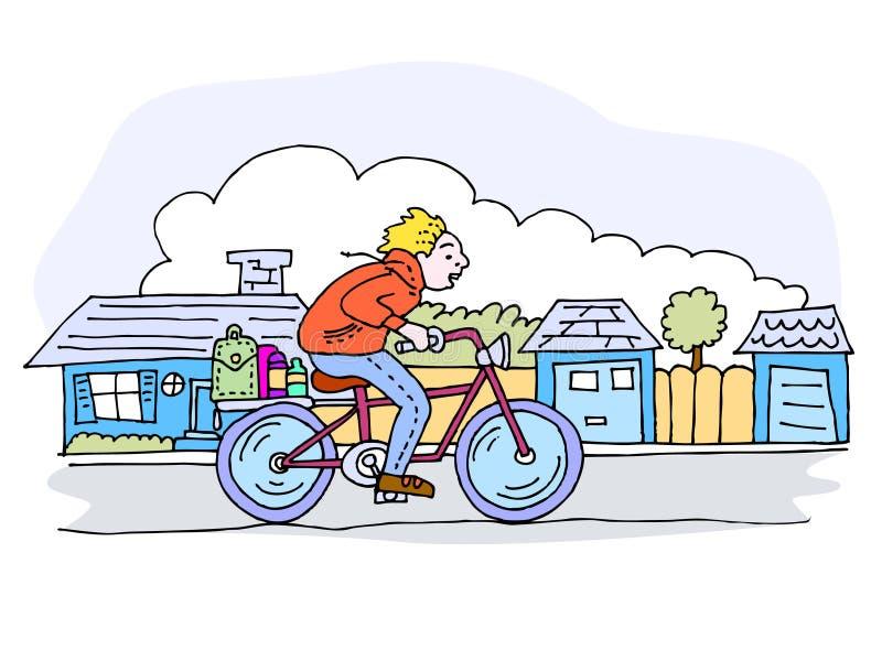 Bike ride in the neighborhood