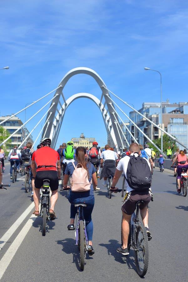 Bike ride in St.Petersburg. royalty free stock image