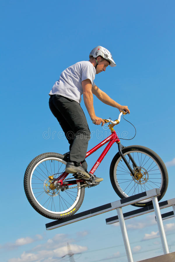Download Bike rider editorial image. Image of bicycle, skill, cyclist - 26842370