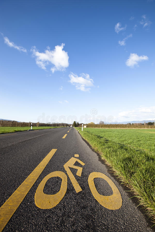 Download Bike road stock photo. Image of roll, spring, bike, clouds - 15606596