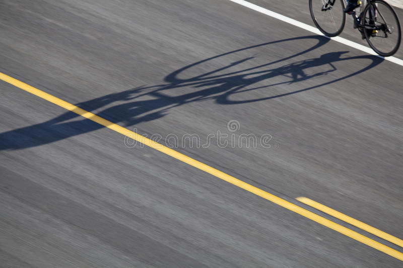 Download Bike, road and shadow stock image. Image of biking, speed - 23625495
