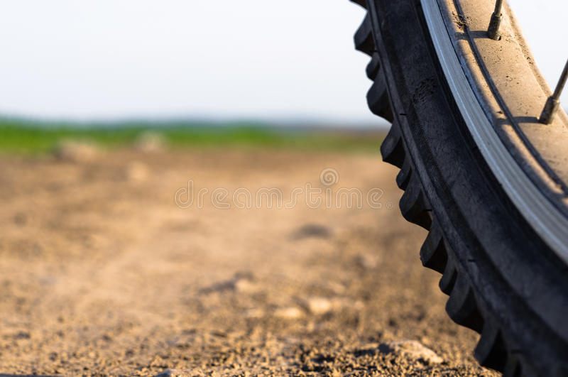 Bicycle wheel close up stock photography