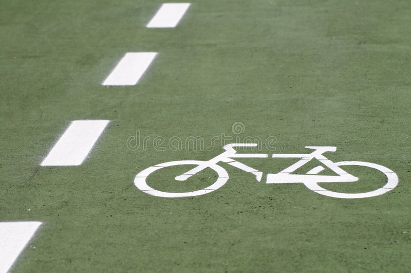 Download Bike route stock image. Image of drawing, painted, street - 5213337