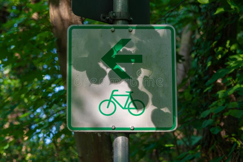 Bike route sign royalty free stock photos