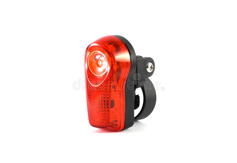 Bike safety lights. On white background stock image