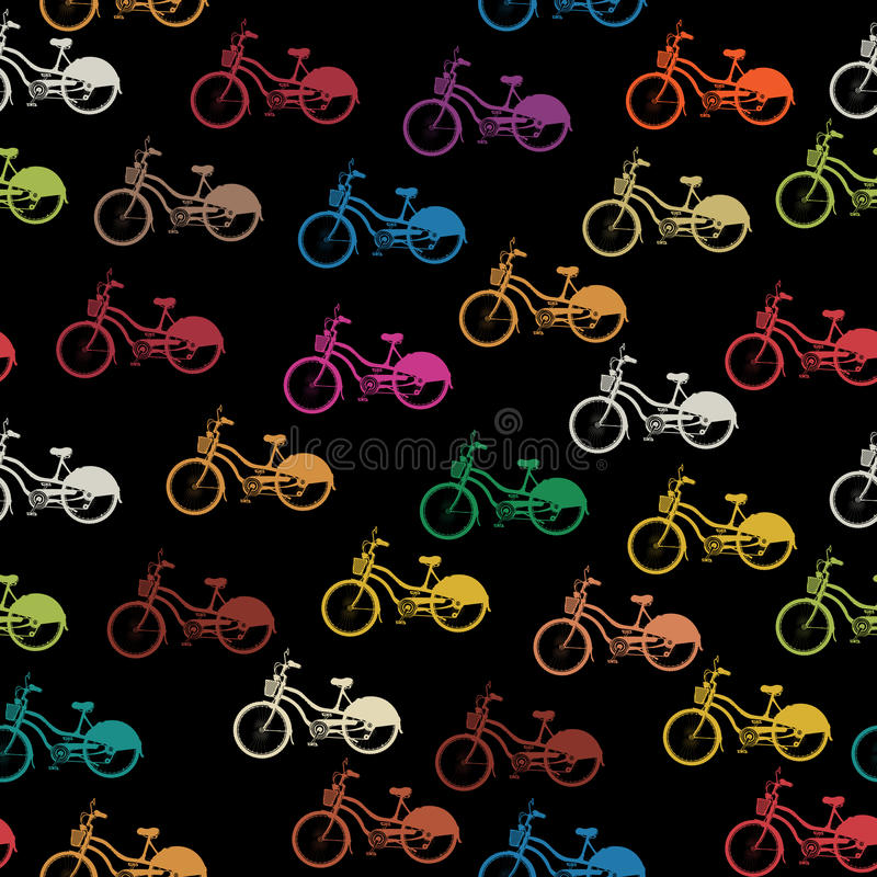 Download Bike seamless pattern stock vector. Illustration of exercise - 28218057