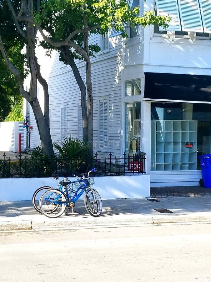 One lone bike stock photo