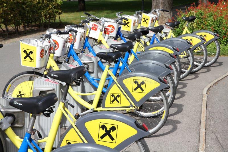 Bike sharing royalty free stock photography