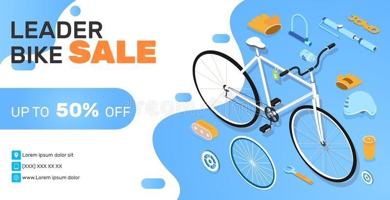 Bike Shop Banner vector illustratie