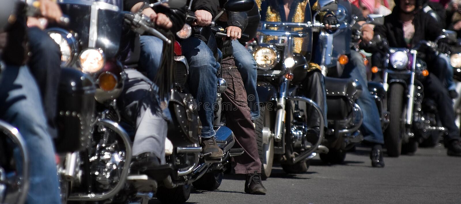 Bike show. Bikers at the bike show - - small depth of field stock image