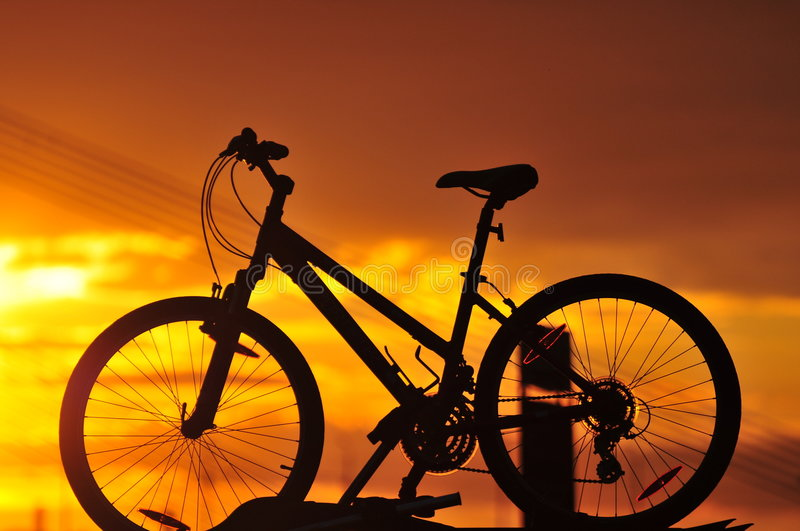 Download Bike silhouette stock image. Image of mountain, adventure - 8198231