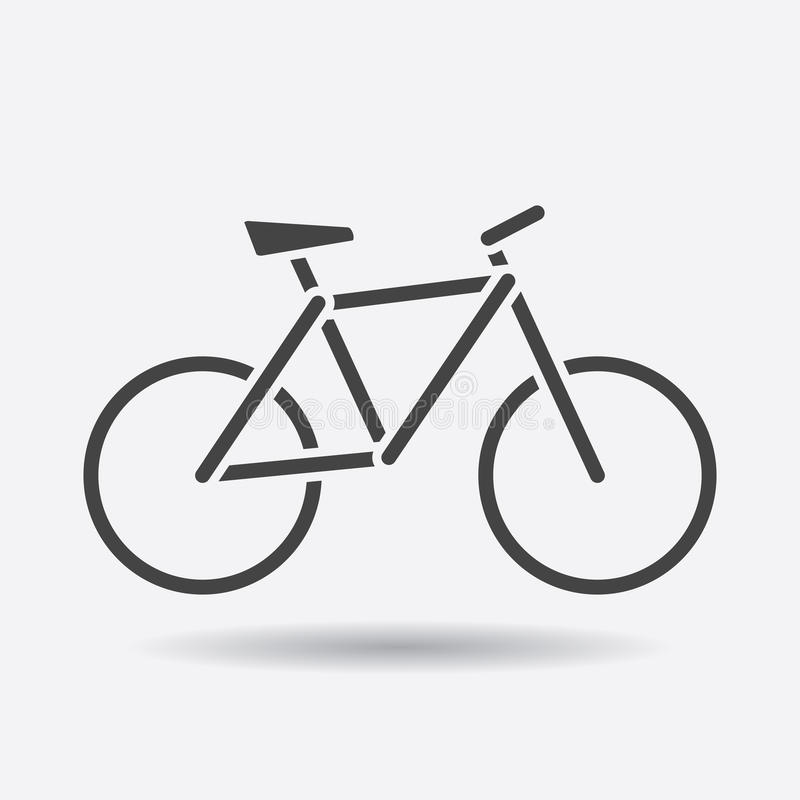 Bike silhouette icon on white background. Bicycle vector illustration in flat style. Icons for design, website. vector illustration