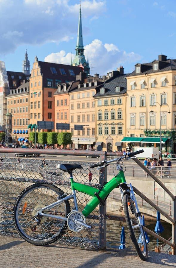 Bike in stockholm, sweden stock photo