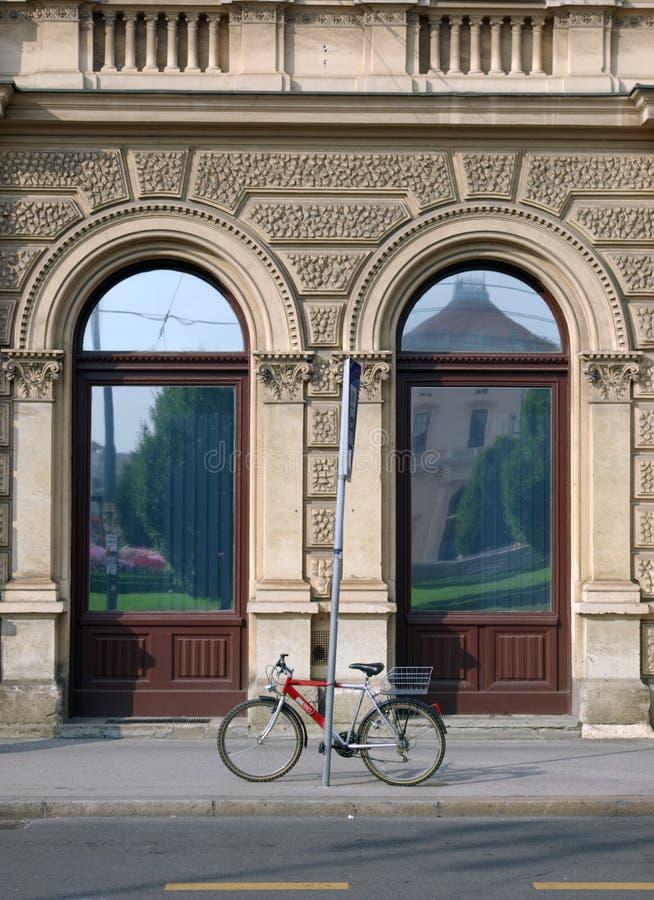 Bike on the street royalty free stock image