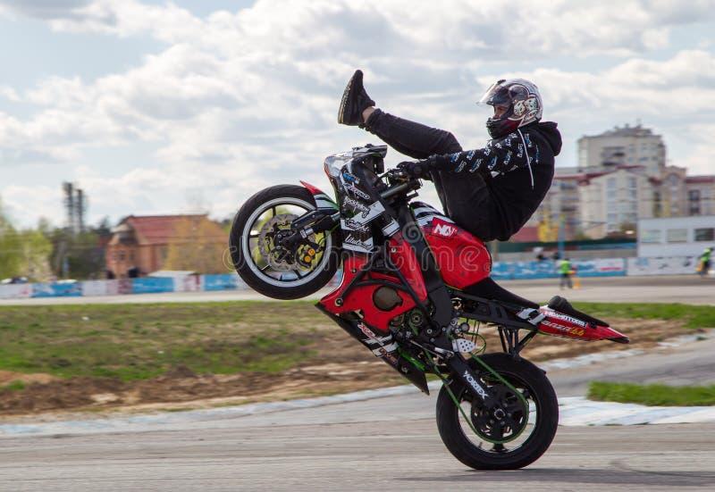 Bike stunt show stock image