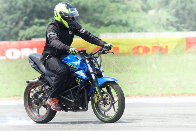 Bike stunt show royalty free stock image