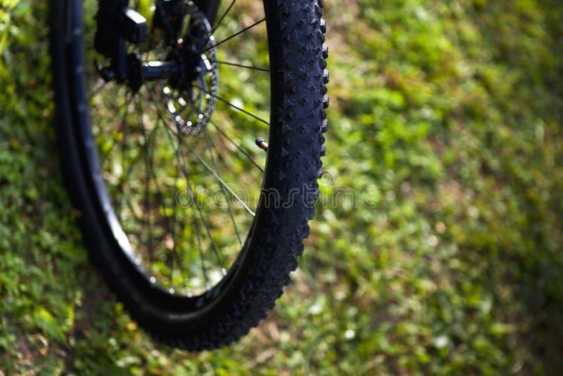 Bike. Tire of a cross bike stock photos