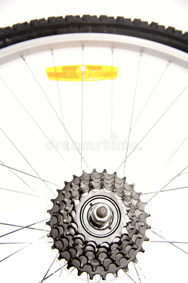 Bike tire and wheel. Close up of a bike tire and wheel royalty free stock images